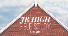 Jr. High Bible Study