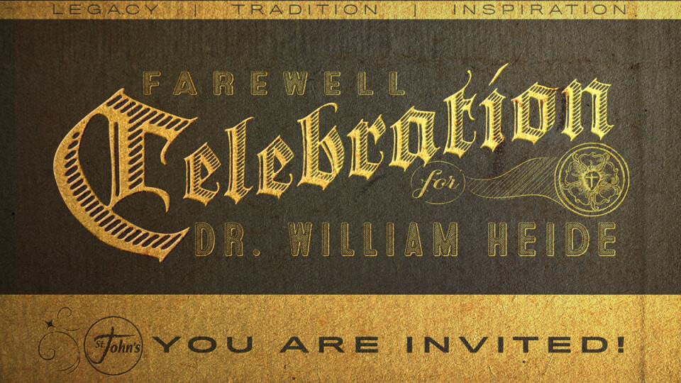 Dr. Bill Heide Celebration Sunday