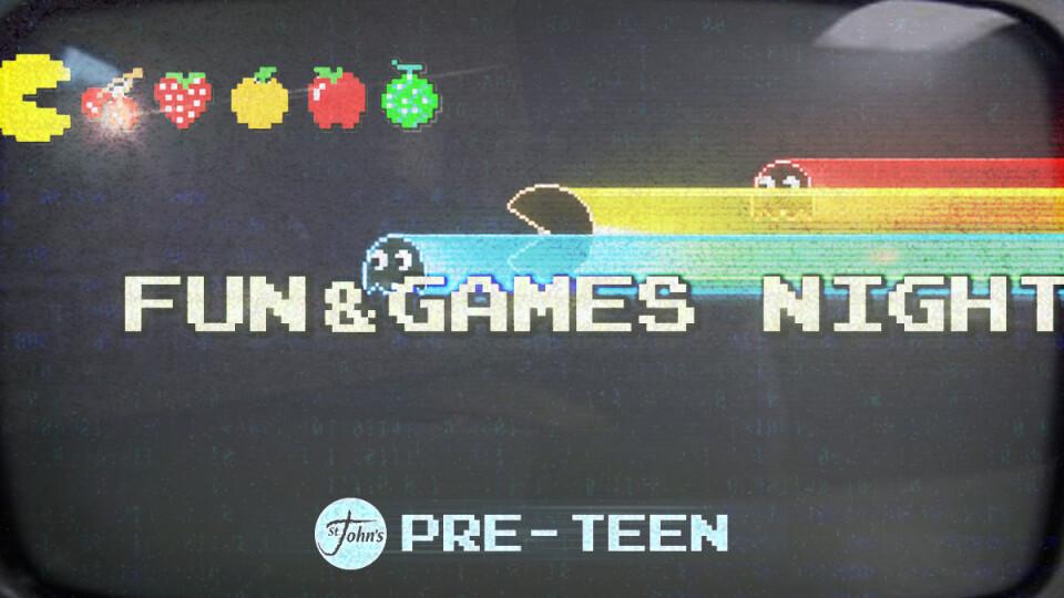 Preteen Fun and Games Night