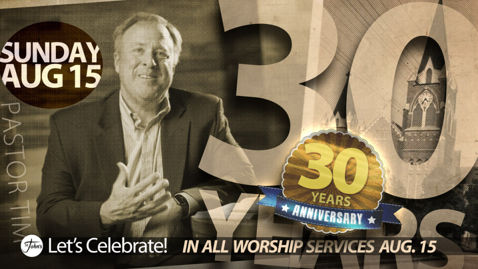 Pastor Tim 30 Years in Ministry